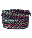 RugStudio presents Colonial Mills Chestnut Knoll Ck57 Baltic Blue Basket Braided Area Rug